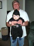 2005 - Kyler M. Kramer and his dad Steve Kramer on Halloween