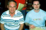 2003 - Don and Joe Pries at the IHOP breakfast on the Eddy Gual Slide Orgy weekend