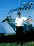 2003 - Bud Skinner and his beautifully restored SNJ-6 at Kendall-Tamiami Executive Airport