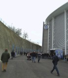 APPROACHING THE WEST STAND ENTRANCES