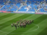 BRASS BAND PLAYING BEFORE FIRST LEAGUE MATCH AT THE AMEX