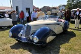 1937 Delahaye 135M Roadster by Figoni & Falaschi, owned by Malcolm Pray, Greenwich, CT; that's Pray on far right (6640)