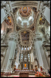 Inside the Melk Abbey Cathedral