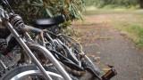 Bike with two stroke motor