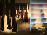 evening falls in the kitchen