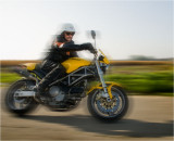 Dad riding his Ducati Monster