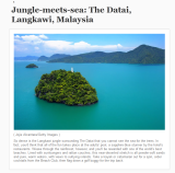 Langkawi on LA Times and Chicago Tribune