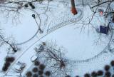 January 26, 2013 - Snow at Washington Square, Greenwich Village, NYC