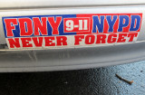 FDNY 9-11 NYPD - NEVER FORGET Bumper Sticker
