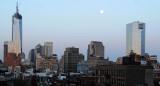 April 27, 2013 Photo Shoot - Washington Square Area Moon @ Dawn & Gardens