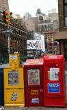 News Boxes at Bleecker Street
