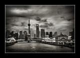 白渡橋和東方明珠,上海