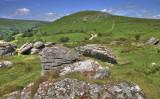 Looking towards Chinkwell Tor from Bonehill Rocks, Dartmoor.