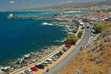 Rethymno harbour and city