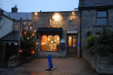 Coffe Shop in Castleton with Christmas Lights