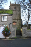 Church in Castleton and its Christmas Tree