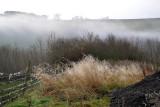 Morning Mist in Castleton in the Peak District