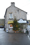 A Blue John Shop in Castleton with Christmas Tree