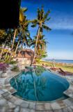 Pool & beach at the Palm Garden