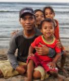 Fisherman and kids