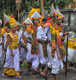 Dancers in procession to a temple