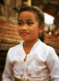 Pretty Girl at Temple Celebration