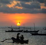 Fishermen on Jimbaran Bay