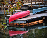 Red Canoe Reflected
