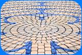 Mosaic in Tan & Blue