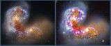 Hubble Comparison - Antennae