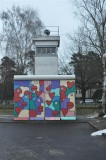 Berlin Wall section and watch tower