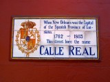 Calle Real → Rue Royale → Royal Street