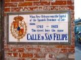 Calle D San Felipe → Rue St. Phiippe → St. Philip Street