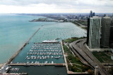 Dusable Harbor, Monroe Harbor, Chicago South Shore, view from Lake Point Tower 70th floor, Chicago, IL - Open House Chicago 2012
