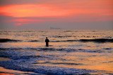 Fort Kochi Beach, Sunset and the fisherman, Fort Kochi, Kerala