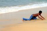 Tempting the waves, Alappuzha beach, Alappuzha, Kerala