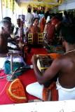 Temple musicians, Sree Ganesh Temple, Alappuzha, Kerala