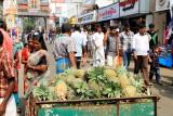 Pineapple seller, Mullackal street, Alappuzha, Kerala