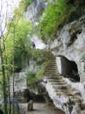 staircase in cave town at Roque St. Christophe