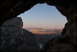 Artesa de Segre seen from a cave near Montsonis