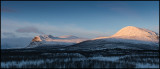 Panorama (4 pictures) over Kebnekaise and Vistasdalen - Lapland