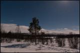 In the middle of the night - Moonshine near Årosjokk - Lapland