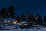 A clear and cold night at Kurravaara with shining stars