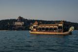 Tourist boat at the summer palace lake