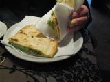 Arugola  and cheese piadino ( stuffed pita bread) .. 4928