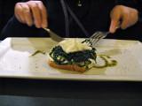 Anitpasto: Bruschetta with chicory and cheese .. 6088