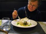 Margaret diving into her potato soup .. 6092