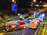 M50 Motorway Crash Scene: 19-Feb-2013 @ 21:00