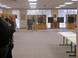 Inside voting place