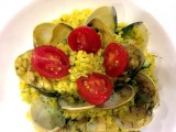 Clam Risotto with Turmeric and Dill Spice